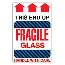 graphic about Fragile Glass Labels Printable identified as Shipping and delivery Labels - Office environment Depot