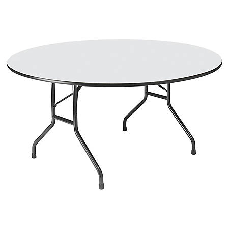 Astonishing Iceberg Premium Wood Laminate Folding Table Round 60W X 60D Gray Item 198524 Interior Design Ideas Clesiryabchikinfo