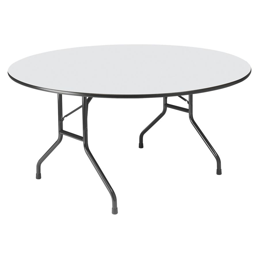 Iceberg Premium Wood Laminate Folding Table Round 60 W X 60 D Gray By  Office Depot U0026 OfficeMax