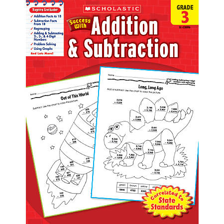 Scholastic Success With: Addition & Subtraction Workbook, Grade 3