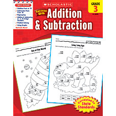 Scholastic Success With Addition Subtraction Workbook