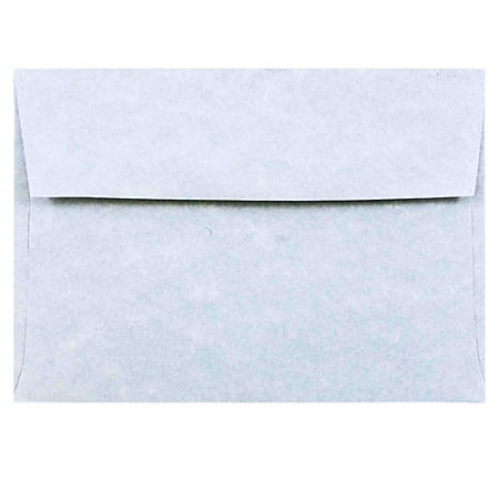 """JAM Paper® Booklet Envelopes With Gummed Closure (Recycled), 4 Bar A1, 3 5/8"""" x 5 1/8"""", 30% Recycled, Blue, Pack Of 25"""
