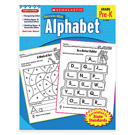 Scholastic Success With: Alphabet Workbook