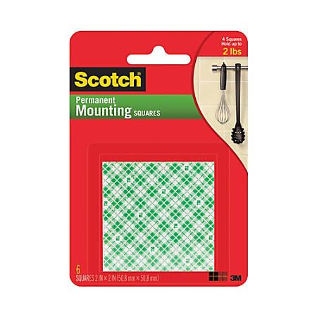 "Scotch® Permanent Foam Mounting Squares, 2"" x 2"""