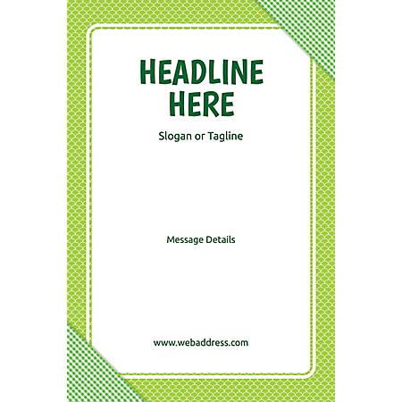Custom Poster, Green Checks, Vertical