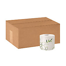 Livi Leaf Embossed Bath Tissue see notes Pack of 80 500 Sheets Per Roll,White