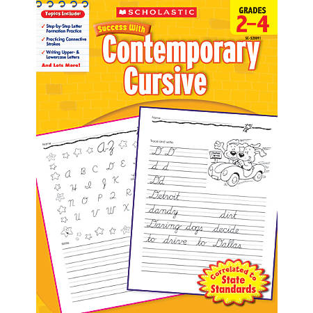 Scholastic Success With: Contemporary Cursive Workbook, Grades 2-4
