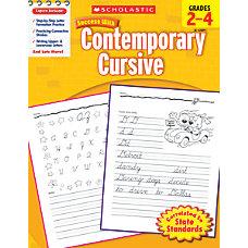 Scholastic Success With Contemporary Cursive Workbook