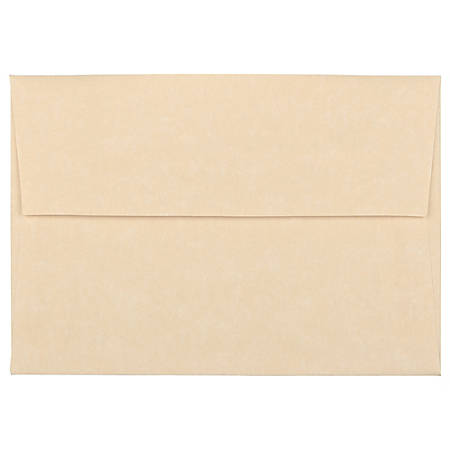"""JAM Paper® Booklet Envelopes With Gummed Closure (Recycled), 4 Bar A1, 3 5/8"""" x 5 1/8"""", 30% Recycled, Brown, Pack Of 25"""