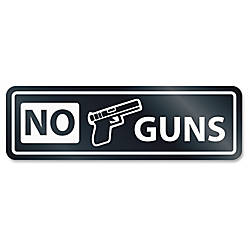 HeadLine No Guns Window Sign 1
