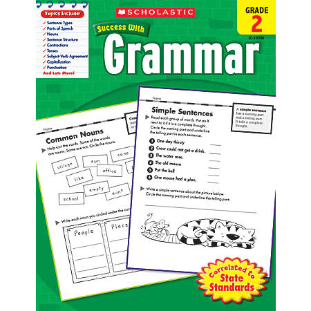 Scholastic Success With: Grammar Workbook, Grade 2