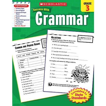 Scholastic Success With: Grammar Workbook, Grade 3