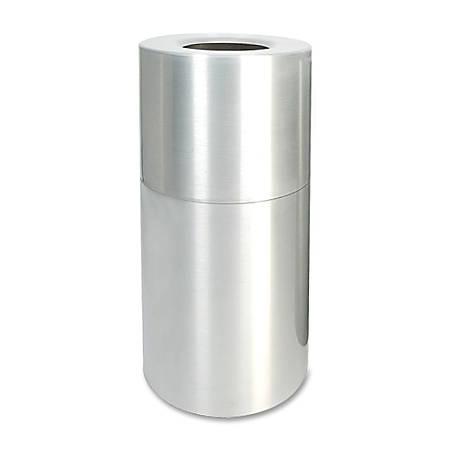 Genuine Joe Weather-Resistant Aluminum Waste Receptacle, 35 Gallon