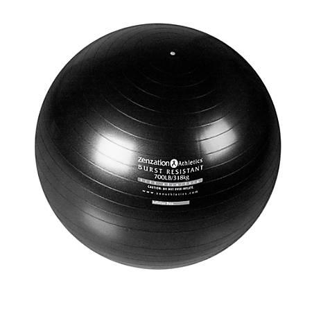 Stansport Premium Grade Burst Resistant Exercise Ball, Black