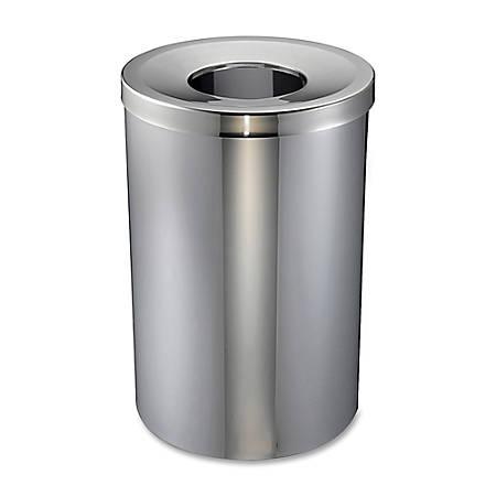 Genuine Joe 30-Gallon Stainless Steel Trash Receptacle