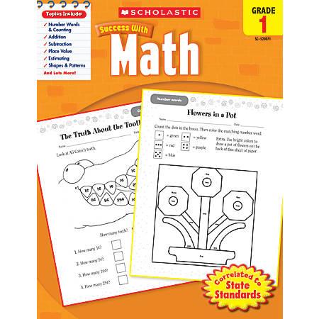 Scholastic Success With: Math Workbook, Grade 1