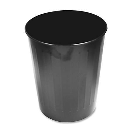 Genuine Joe 6-Gallon Fire-Safe Trash Can, Black