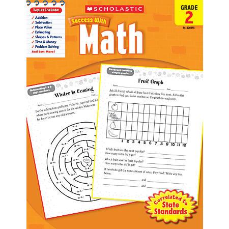 Scholastic Success With: Math Workbook, Grade 2