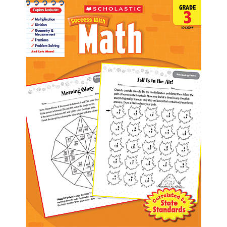 Scholastic Success With: Math Workbook, Grade 3