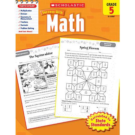 Scholastic Success With: Math Workbook, Grade 5