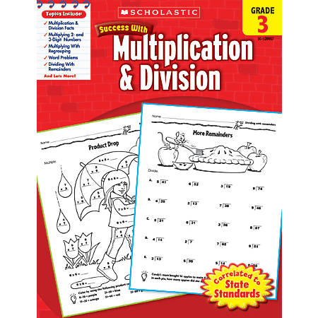 Scholastic Success With: Multiplication & Division Workbook, Grade 3