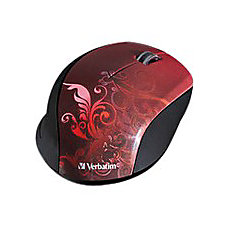 Verbatim Wireless Optical Mouse Red
