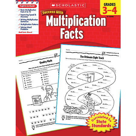 Scholastic Success With: Multiplication Facts Workbook, Grades 3-4