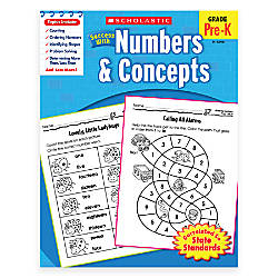 Scholastic Success With Numbers Concepts Workbook