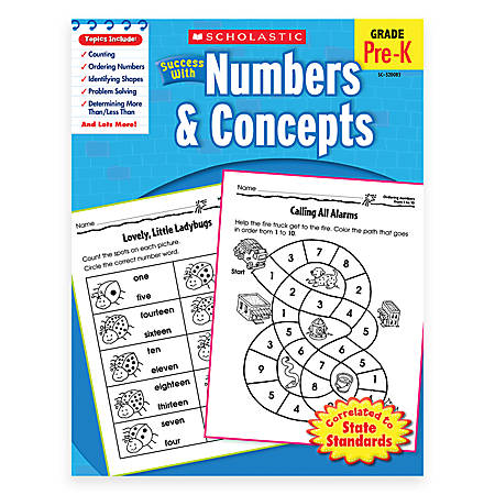 Scholastic Success With: Numbers & Concepts Workbook
