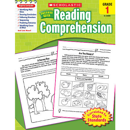 Scholastic Success With: Reading Comprehension Workbook, Grade 1