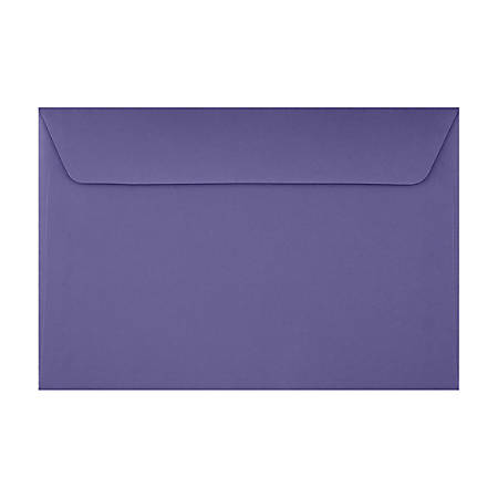 "LUX Booklet Envelopes With Moisture Closure, #6 1/2, 6"" x 9"", Wisteria, Pack Of 500"