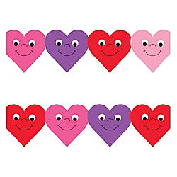 Hygloss Happy Hearts Design Border Strips
