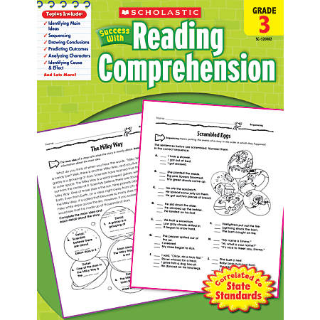Scholastic Success With: Reading Comprehension Workbook, Grade 3