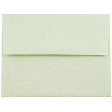 "JAM Paper® Booklet Invitation Envelopes (Recycled), A2, 4 3/8"" x 5 3/4"", 30% Recycled, Green, Pack Of 25"
