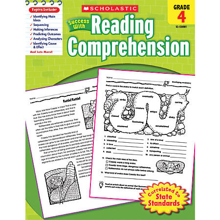 Scholastic Success With: Reading Comprehension Workbook, Grade 4