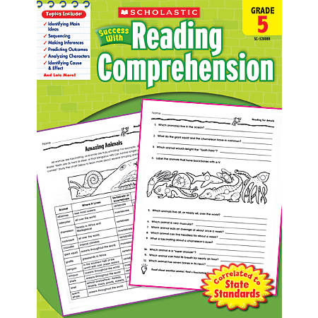 Scholastic Success With: Reading Comprehension Workbook, Grade 5