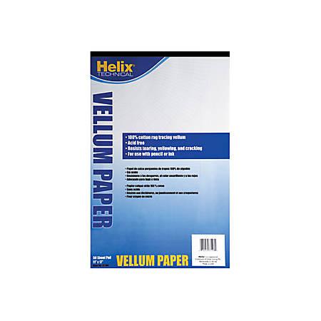 """Helix® Vellum Pad, 11"""" x 17"""""""