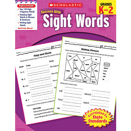 Scholastic Success With: Sight Words Workbook
