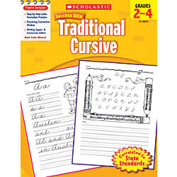 Scholastic Success With Traditional Cursive Workbook