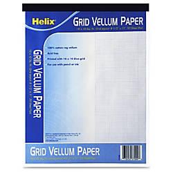 Helix Grid Vellum Paper Pad Letter