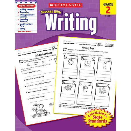 Scholastic Success With: Writing Workbook, Grade 2