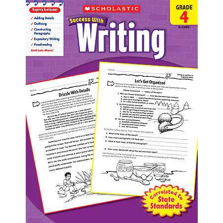 Scholastic Success With: Writing Workbook, Grade 4
