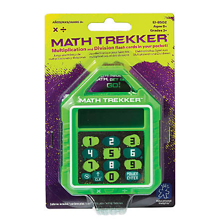 """Educational Insights® Math Trekker Multiplication/Division Electronic Game, 3"""", Grades 3 - College"""