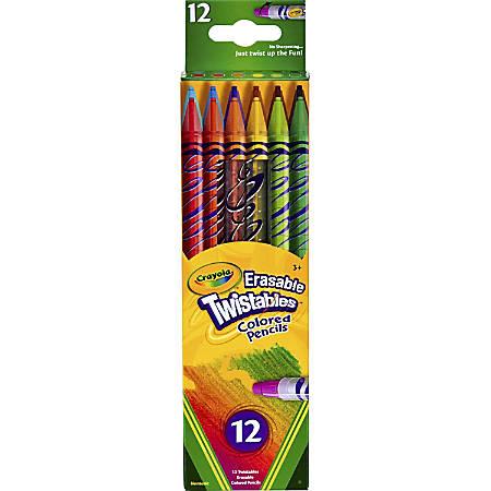 Crayola® Twistables® Erasable Color Pencils, Assorted Colors, Set Of 12