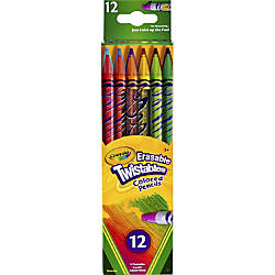 Crayola Twistables Erasable Color Pencils Assorted