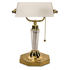 Ledu Executive Bankers Lamp Frosted Glass