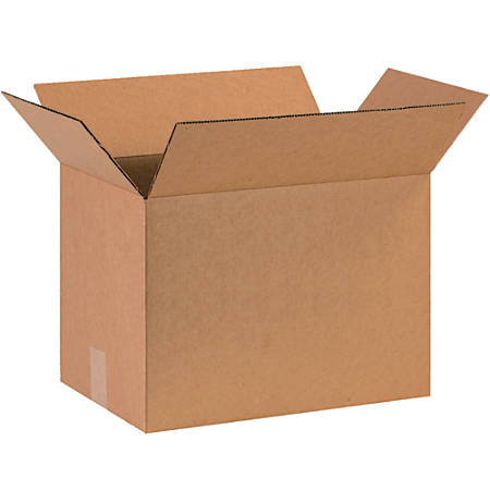 """Office Depot® Brand Corrugated Boxes, 12""""H x 8""""W x 16""""D, 15% Recycled, Kraft, Bundle Of 25"""