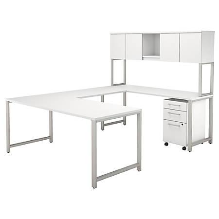 bush business furniture 400 series u shaped table desk with hutch and 3 drawer mobile file. Black Bedroom Furniture Sets. Home Design Ideas