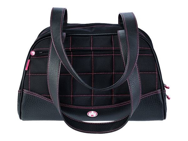 "Mobile Edge Sumo Duffel Medium Handbag - Duffel - 9.5"" x 15.5"" x 8"" - Ballistic Nylon - Black, Pink"