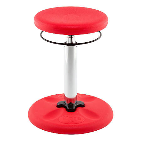 "Kore Kids Adjustable Wobble Chair, 15 1/2"" to 21 1/2""H, Red"